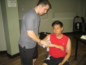 Acute arm pain